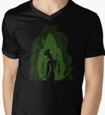 Green shadow Men's V-Neck T-Shirt