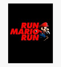 Super Mario - Run Mario Run - Clean Photographic Print