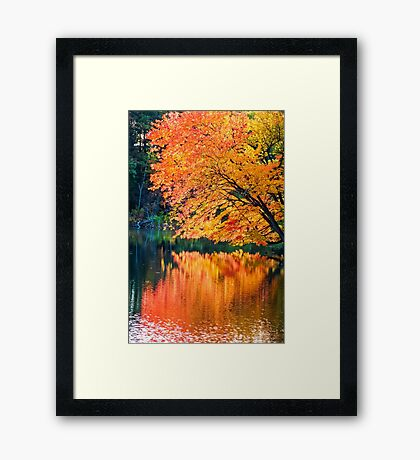 The Magic of Autumn in New England Framed Print