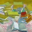 Vincent Van Gogh - Pile of French Novels, Book lovers! by IntWanderer