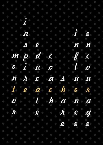 Teacher... Inspirational Quote by Powerofwordss