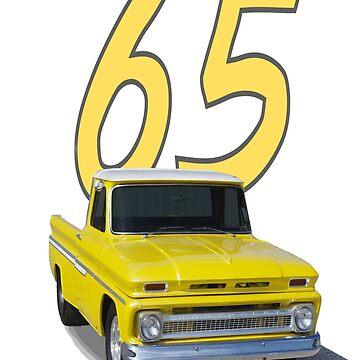 1965 Chevy Pickup - shirts, hoodies, stickers, notebooks.  by seansdigitalart