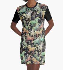 Ninjas+Unicorns Graphic T-Shirt Dress