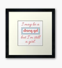 Still a Girl Framed Print