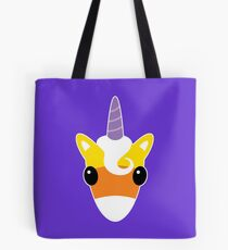 Halloween Candy Corn Unicorn Tote Bag