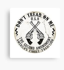 DON'T TREAD ON ME SECOND AMENDMENT USA AMERICA FREEDOM GUNS 2ND 2 Canvas Print