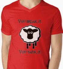 You Tank It - sheep (clean) Men's V-Neck T-Shirt