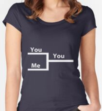 You vs Me In Bracket Women's Fitted Scoop T-Shirt