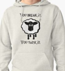 You Tank It - sheep (distressed) Pullover Hoodie