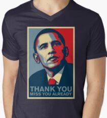 Obama - Thank You, Miss You Already Men's V-Neck T-Shirt