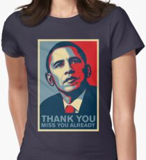 Obama - Thank You, Miss You Already Women's Fitted T-Shirt