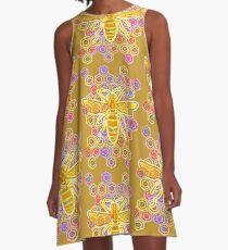 Jewel Tone Bee A-Line Dress