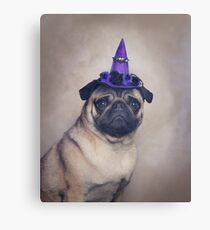 Peppa Pug Hates Halloween Canvas Print