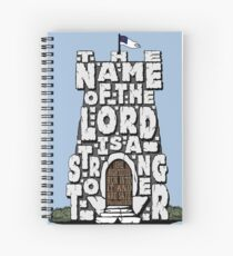 Strong Tower- Proverbs 18:10 Spiral Notebook