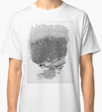 night scene snow Classic T-Shirt