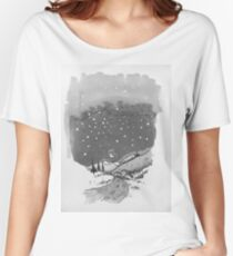 night scene snow Women's Relaxed Fit T-Shirt