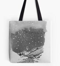 night scene snow Tote Bag