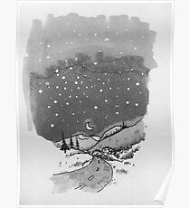 night scene snow Poster