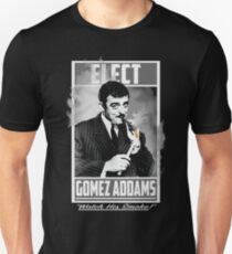 "Elect Gomez Addams- ""Watch His Smoke!"" T-Shirt"