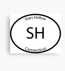 Stars Hollow - Euro Style Car Sticker Canvas Print