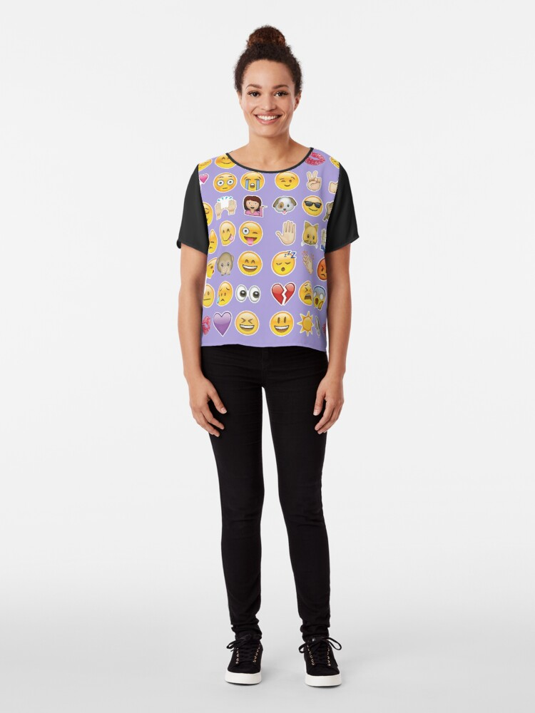Alternative Ansicht von Pastell lila Emoji Chiffon Top