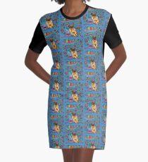 Sleepy Pug Graphic T-Shirt Dress