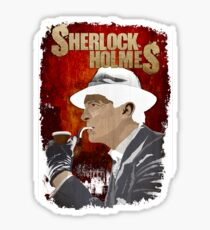 Sherlock Holmes Jeremy Brett T-Shirt Sticker