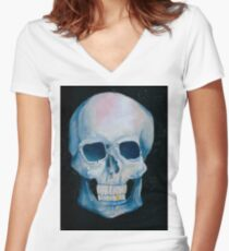 gold tooth Women's Fitted V-Neck T-Shirt