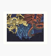 yugioh  egyptian gods Art Print