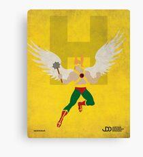Hawkman - Superhero Minimalist Alphabet Print Art Canvas Print