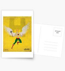 Hawkman - Superhero Minimalist Alphabet Print Art Postcards