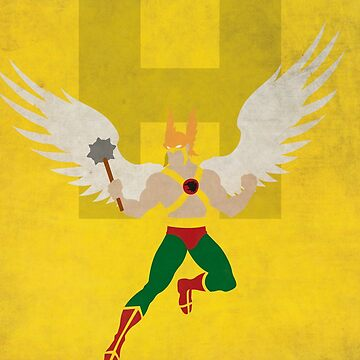Hawkman - Superhero Minimalist Alphabet Print Art by justicedefender