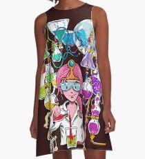 Science With Princess Bubblegum A-Line Dress