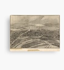 Vintage Pictorial Map of Providence RI (1896) Canvas Print