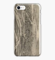 Vintage Pictorial Map of Providence RI (1896) iPhone Case/Skin