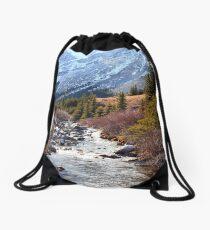 Elbow pass creek Drawstring Bag