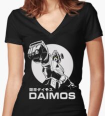 Tōshō Daimos Retro Mecha Anime  Women's Fitted V-Neck T-Shirt