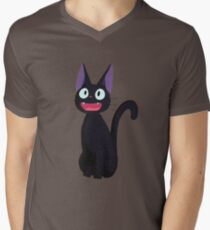 Kiki's Delivery Service Jiji-Studio Ghibli Men's V-Neck T-Shirt