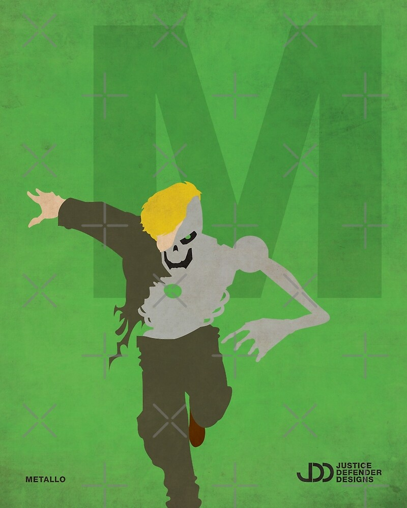 Metallo - Superhero Minimalist Alphabet Print Art by justicedefender