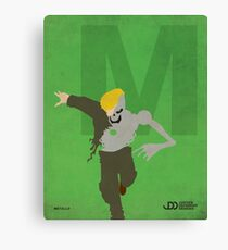 Metallo - Superhero Minimalist Alphabet Print Art Canvas Print