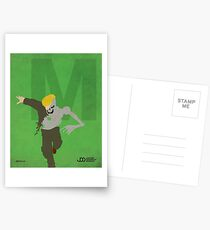 Metallo - Superhero Minimalist Alphabet Print Art Postcards