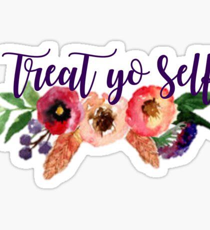 Floral Treat Yo Self Sticker