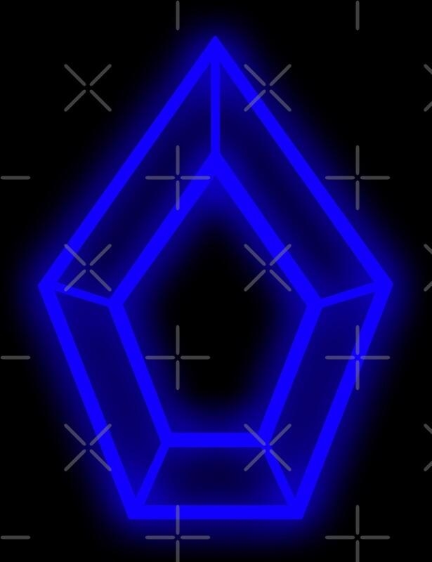 """Pentagon Kpop Logo (Blue)"" Art Prints by PaolaAzeneth ..."