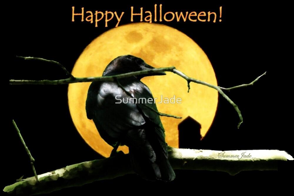 Full Moon Shining ~ Black Crow by SummerJade