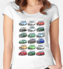 Mini time line Women's Fitted Scoop T-Shirt