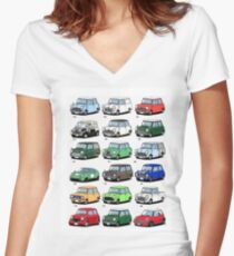 Mini time line Women's Fitted V-Neck T-Shirt