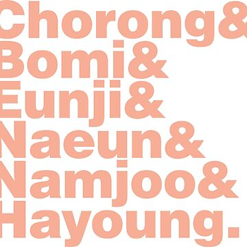 APink in Helvetica by wolfberry