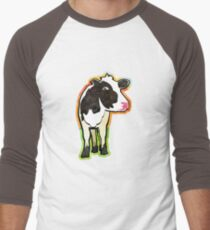 Dairy Cow Men's Baseball ¾ T-Shirt