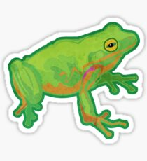 Green Tree Frog Sticker
