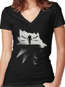 Geralt Medallion Women's Fitted V-Neck T-Shirt